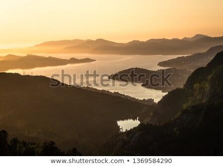 Zeegezicht schemering zee meer hemel water Stockfoto © dacasdo