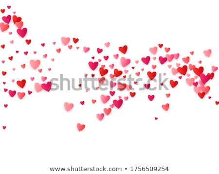 Wedding love card with ruby heart, vector illustration Stock photo © carodi