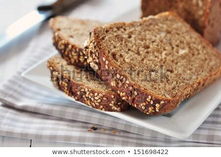 Volkorenbrood witte voedsel achtergrond tarwe ontbijt Stockfoto © nito