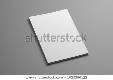 3D · книга · охватывать · изолированный · белый · работу - Сток-фото © georgejmclittle