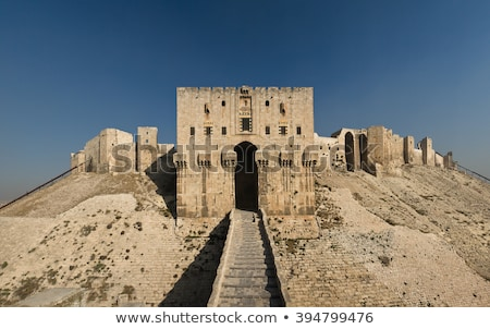 aleppo ancient citadel in syria Stock photo © travelphotography