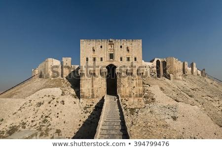 antigo · citadela · ponto · de · referência · Síria · beco · cidade - foto stock © travelphotography