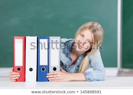 Stockfoto: Bestanden · tonen · papierwerk · documenten · informatie · papieren
