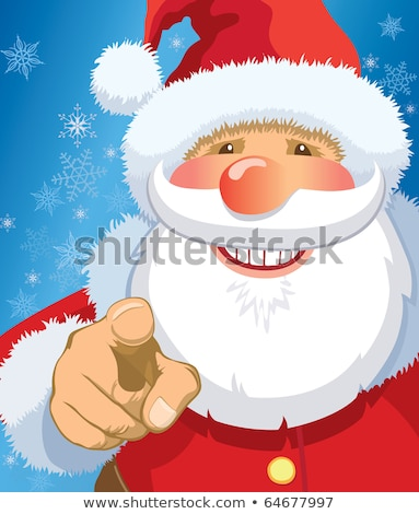 portrait of happy santa claus pointing at you stock photo © hasloo