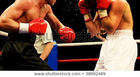 Kettő boxeralsó box gyufa izolált fehér Stock fotó © Kirill_M