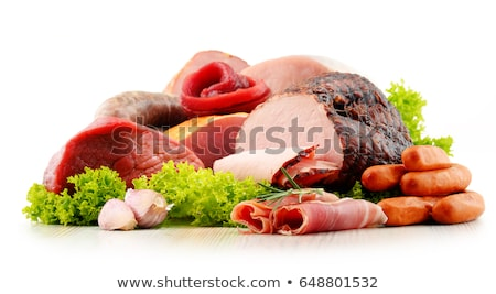 assortment of meats isolated Stock photo © M-studio