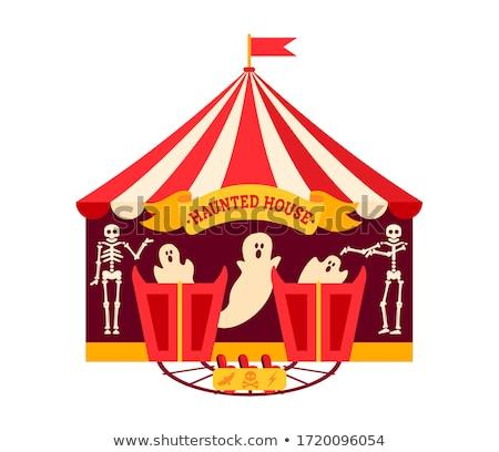 Skeleton at a amusement park ghost train Stock photo © Bertl123