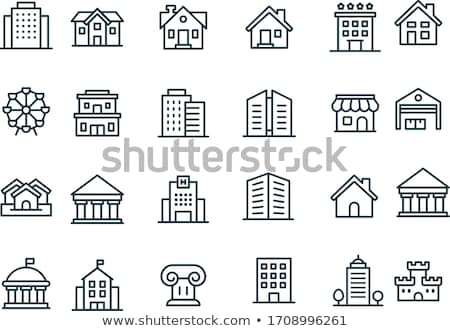 black building icons Stock photo © SergeyT