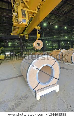 огромный гальванизированный завода стали лист Сток-фото © mady70