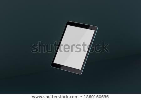 Fekete általános táblagép 3d render üzlet számítógép Stock fotó © oly5