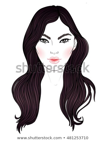 Belo jovem thai mulher longo elegante Foto stock © tommyandone