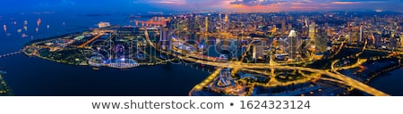 Mooie Singapore luchtfoto business centrum Stockfoto © joyr