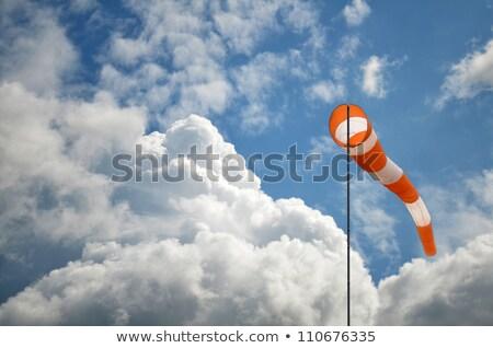 Viento calcetín cielo azul rojo blanco cielo Foto stock © fotoduki