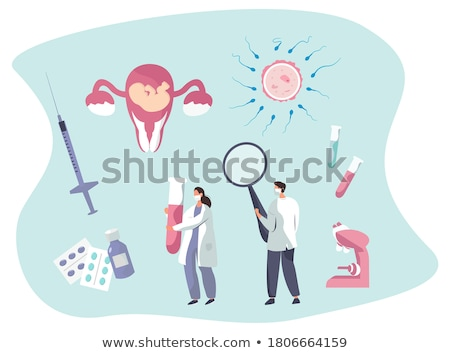 Stock photo: spermatozoon with ovule