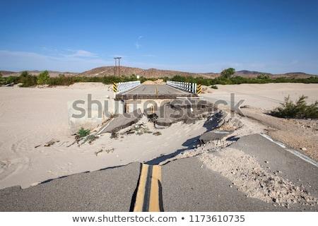 asfalt · weg · gat · schade · beschadigd - stockfoto © songbird