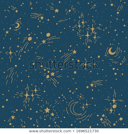 textile pattern of star trails in the night sky stock photo © shihina