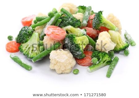 Сток-фото: заморожены · овощей · Ice · Cube · капли · изолированный · белый