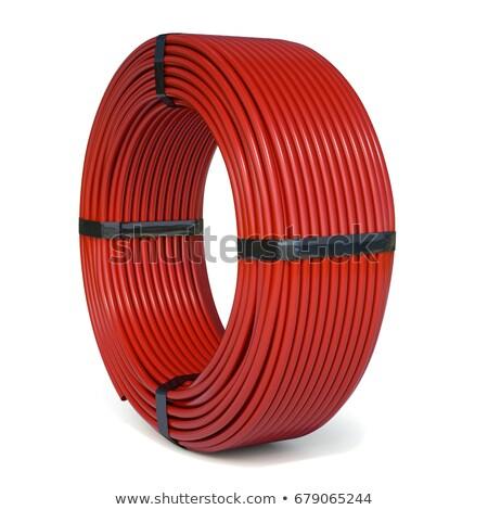 Rolled plastic hose as background Stock photo © stevanovicigor