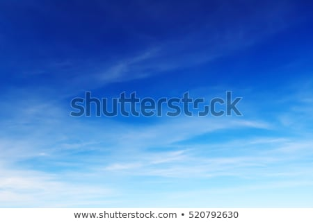 Stockfoto: Blauw · daglicht · zomer · hemel · witte · wolken