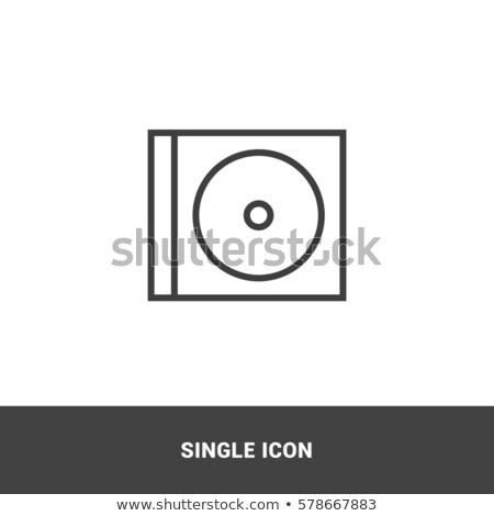 compact disc with music notes stock photo © m_pavlov