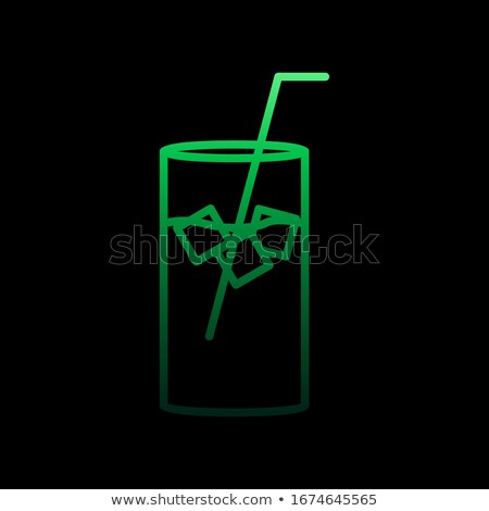 Gradient of fizzy ice cola in a glass  Stock photo © nalinratphi