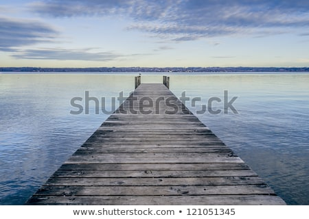 wooden jetty tutzing stock photo © magann