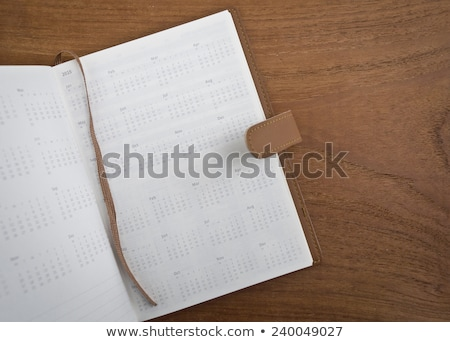 2015 naptár fa asztal boldog új évet papír terv Stock fotó © stevanovicigor