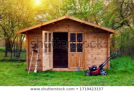 Green Garden Shed Stock photo © kimmit