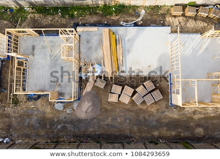 New walls being erected on a construction site Stock photo © franky242