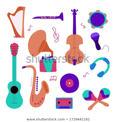 Instruments de musique illustrations piano concert amusement stade Photo stock © Slobelix