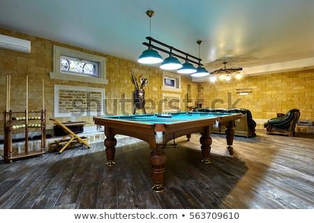 Snooker table piscine balle jeu Photo stock © stockshoppe
