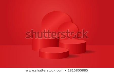 Red cylinder Stock photo © montego