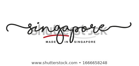 Made in Singapore on Red Stamp. Stock photo © tashatuvango