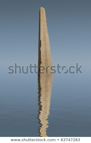 Egyptian obelisk and its reflection Stock photo © eleaner