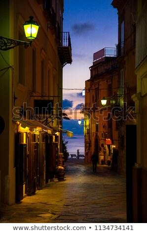 Kilise gece İtalya plaj seyahat Stok fotoğraf © marco_rubino