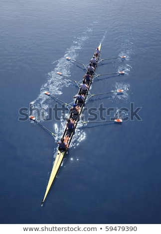 eight men rowing stock photo © smuki