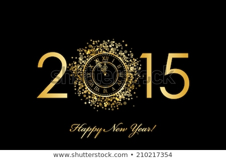 2015 year golden numbers stock photo © mikola249