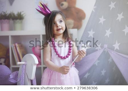 Little girl traje asas menina Foto stock © JamiRae