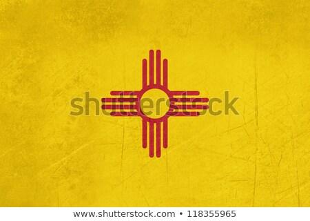 Zdjęcia stock: Nowy · Meksyk · grunge · banderą · wygrać · tekstury · tle