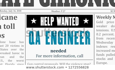 QA Tester Jobs in Newspaper. Stock photo © tashatuvango