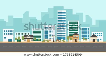 Wybrany domu budowy domu czerwony rynku Zdjęcia stock © tang90246