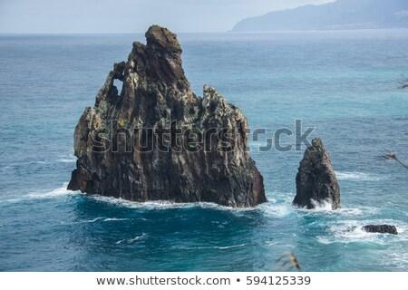 Tall cliffs and rocks by the coast Stock photo © olandsfokus
