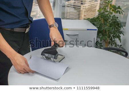 man holding two hands puncher Stock photo © OleksandrO