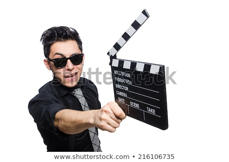 Man holding a clapboard Stock photo © iko