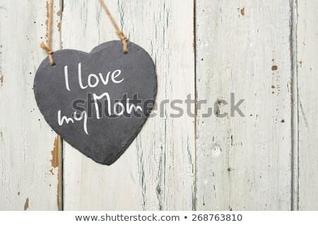 Felirat felirat szeretet enyém anya boldog Stock fotó © Zerbor