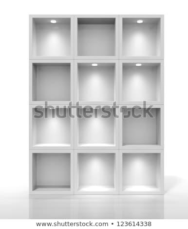 Beyaz kutu raflar içinde 3D yüksek Stok fotoğraf © ZARost