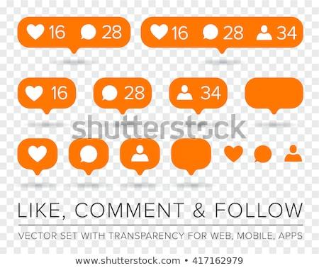 Comentar laranja ícone ilustração branco projeto Foto stock © nickylarson974