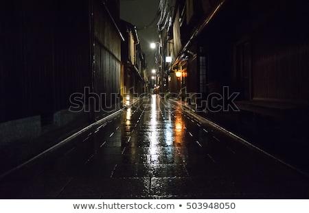 Noc deszczowy miasta wnętrza samochodu sportu Zdjęcia stock © tracer