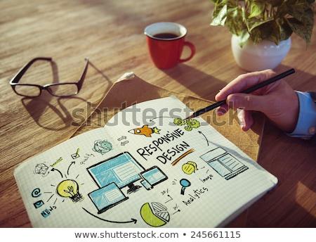 Responsive Design. Online Working Concept. Stock photo © tashatuvango