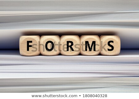 Stock photo: Forms Concept with Word on Folder.